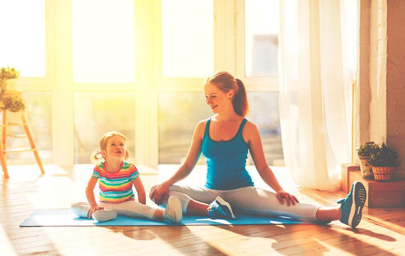 Весёлая зарядка для детей от двух до трёх лет